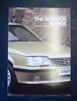 OPEL SENATOR RANGE Sales Brochure April 1984 #5259