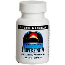 Huperzine A, 200mcg x 60Tabs, Source Naturals