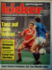KICKER 84 - 18.10. 1982 ** Thomas Allofs Neapel-Lautern 1:2 Tottenham-Bayern 1:1