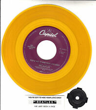 """BEATLES  You've Got To Hide Your Love Away YELLOW VINYL 7"""" 45 rpm record NEW"""