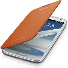GENUINE NEW SAMSUNG FLIP COVER FOR GALAXY NOTE 2 IN ORANGE EFC-1J9FOEGSTD