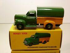 DINKY TOYS ATLAS 25Q STUDEBAKER VAN - GREEN + YELLOW - EXCELLENT IN BOX