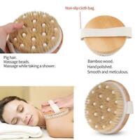 Tragbare Lazy Rubbing Back Duschbürste Massagebürste heiß Trockenbürste R1R8