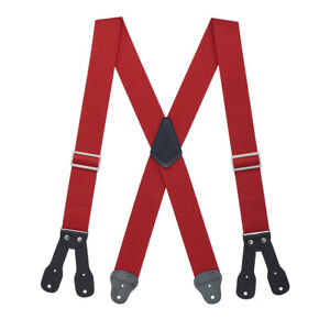 Logger Suspenders - BUTTON (4 sizes, 5 colors) - LOW STRETCH