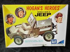 Vintage (1968) & Rare 1/25 MPC HOGAN'S HEROES WW2 US Willys Jeep model kit.