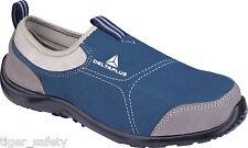 Scarpe da uomo blu in tela con da infilare