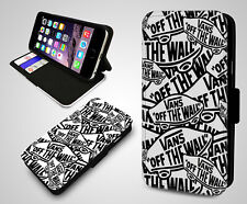 Vans Off The Wall Collage Skateboarding Skate In Wallet Leather Phone Case Cover