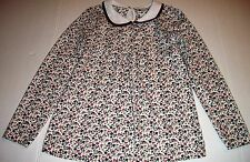 TU BRAND Girls 134/9 Years Floral Long Sleeve Knit 100% Cotton Top