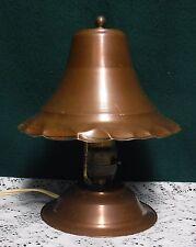 Antique Arts & Crafts Copper Desk Lamp Light