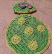 Handmade baby turtle photo prop nb - 3mths