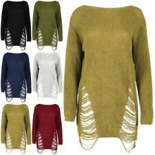 Unbranded Acrylic Scoop Neck Long Sleeve Jumpers & Cardigans for Women
