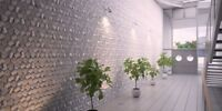 *BEEHIVE* 3D Decorative Wall Panels 1 pcs ABS Plastic mold for Plaster