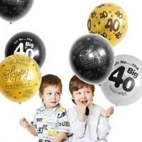 Happy Birthday Gold Black Latex Balloons 18/25/30/40/50/70/80/90th Party Decor