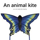Portable Checked Fabric Animal Blue Kite Easy To Fly Entertainment Activity Accs