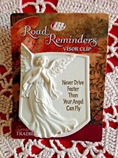 """Auto Visor Clip """"NEVER DRIVE FASTER THAN YOUR ANGEL """" Metal Clip, AWESOME! *NEW*"""