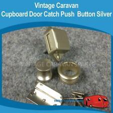 Caravan PUSH BUTTON  LOCK CATCH ( Silver ) Vintage Viscount Franklin H0159