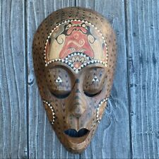 Handcrafted African Wood Wall Mask Decor Beauty Handcrafted Ethnic African