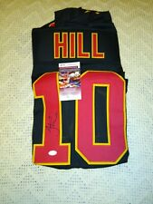 Tyreek Hill Autographed Jersey Kansas City Chiefs JSA COA Holiday Black XL