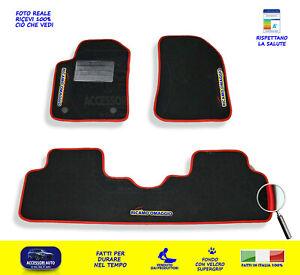 Giulietta ALFA ROMEO Tappeti per auto Tappetini in moquette nero con rosso set 3