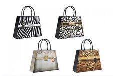 Set of 8 Animal Print Handbag Gift Bag,3D Features, Birthday/ Christmas 32 x33cm