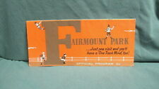 Fairmount Park 1971 Horse Racing Program