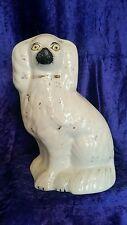 Genuine Victorian Staffordshire King Charles Spaniel Dog 19th century
