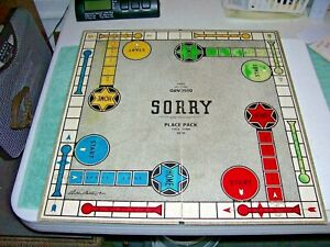 SORRY! Game Board ONLY Replacement PART Parker Brothers Vintage 1950