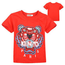 2-14Y Kids' Boys Girls Sports Short-sleeved T-shirt 4 Color coat TOP