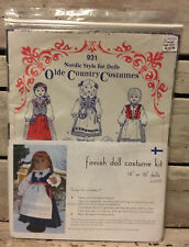 931 Nordic Style For Dolls *Finnish Doll Costume Kit* Olde Country Costumes