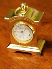 """Sergio Valente Mini Mantle 2"""" Clock - Gold"""