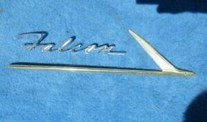 1962 Ford Falcon Front Fender Script & Ornament Original FOMOCO
