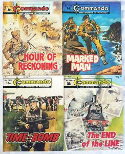 """4 Commando War Comics """"Time-Bomb"""" 1982 - 1983"""