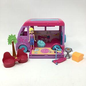 Polly Pocket Pop Up Glamper Camper Truck 2009 With Accessories Mattel Rare