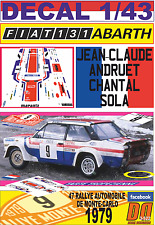 DECAL 1/43 FIAT 131 ABARTH J-C.ANDRUET R.MONTECARLO 1979 4th (12)