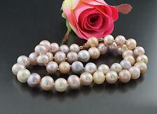 Mehrfarbige Zuchtperlen-Halskette 10-11 mm, 925-Silber roségolden Wert 900 € neu