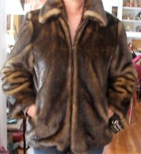 SCANDINAVIAN FAUX FUR Tiger J. LLC Ladies Bomber Style Jacket Size M
