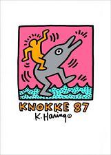 HARING, Keith - KNOKKE 1987 - Sérigraphie, papier glacé signé dans l'impression
