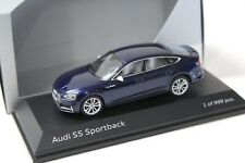 1:43 Jadi Audi S5 Sportback Navarra blue 2016 DEALER VERSION