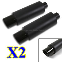"FOR EURO CAR!2X N1 STYLE DEEP TONE SPORT EXHAUST MUFFLER+4.25"" CF TIPS"