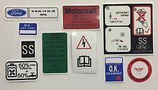 Ford Escort RS Turbo S1 mk3 Engine Bay Decals, Sticker Set best quality