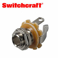 "Switchcraft 1/4"" Mono Output Jack Socket for Strat Tele Gibson Epiphone Guitars"