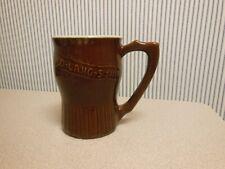 "Antique 5"" Stoneware Mug New Year's Auld Lang Syne Advertising Duchess Cheese Ny"
