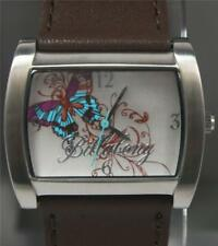 BILLABONG FLUTTER BUTTERFLY LADIES GIRLS REAL LEATHER BROWN WATCH 50mts NEW