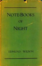 Notebooks Of Night by Wilson Edmund - Book - Hard Cover - Poetry