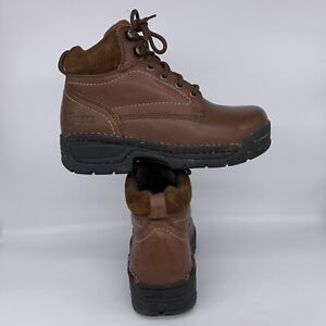 HYTEST Opanka Safety Work Boot Brown Steel Toe Lace Up Women Size 6 M