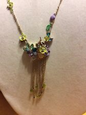 $65 Betsey Johnson Spring Ahead Floral Necklace AB 18