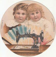 New Home Sewing Machine Orange MA L Schneller Circle Vict Card c1880s