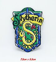 Harry Potter Slytherin Iron Sew on Embroidered Patch #928