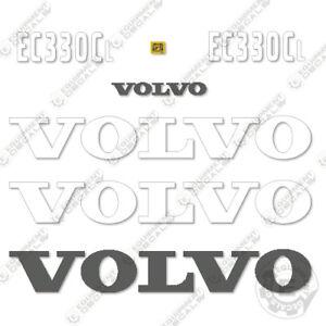 Volvo EC330CL Decals Hydraulic Excavator Equipment Decals