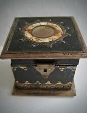 Antique Wood & Bone Inlay Box Handcrafted